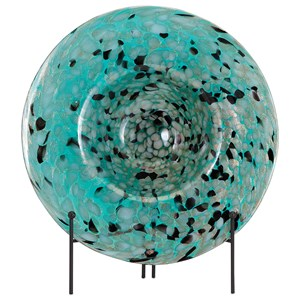 IMAX Worldwide Home Decorative Figurines Glacier Glass Charger