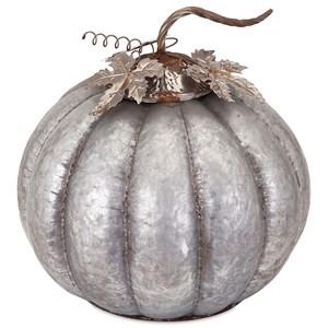 Kellan Large Galvanized Pumpkin