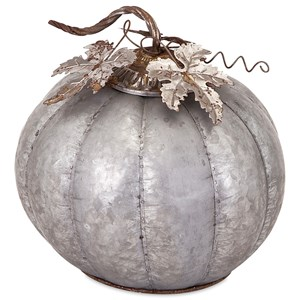 Kellan Medium Galvanized Pumpkin