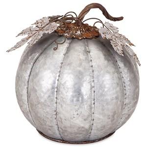Kellan Small Galvanized Pumpkin