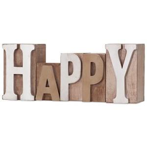 Letterpress Word - Happy