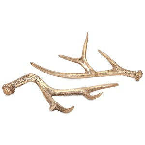 IMAX Worldwide Home Decorative Figurines Hodge Gold Deer Antlers - Ast 2