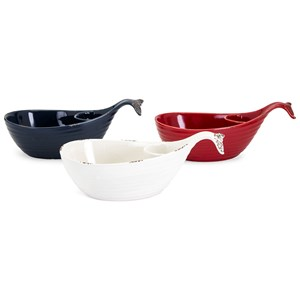 Hawkins Whale Chip and Dip Dishes - Ast 3