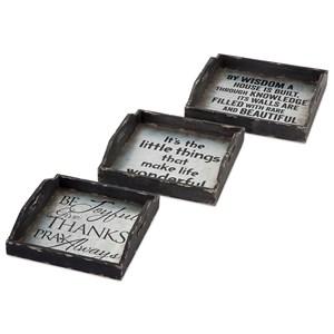 IMAX Worldwide Home Ella Elaine Metal Trays - Set of 3