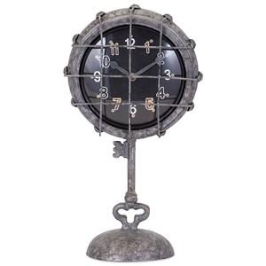 IMAX Worldwide Home Ella Elaine Metal Pedestal Clock