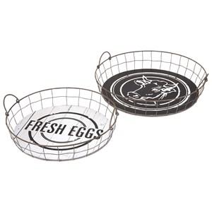 IMAX Worldwide Home Ella Elaine Fresh Eggs Trays - Set of 2
