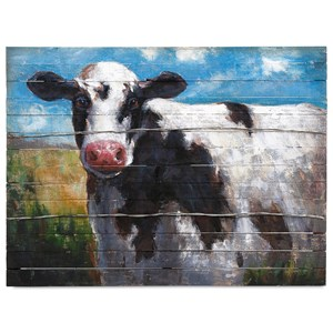 IMAX Worldwide Home Ella Elaine Lester Cow Oil Painting