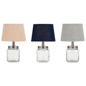IMAX Worldwide Home Ella Elaine Fillable Glass Jar Lamps - Ast 3