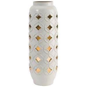 IMAX Worldwide Home Lighting Calvinia Cutout Ceramic Lamp