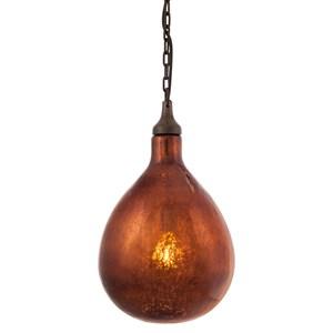 IMAX Worldwide Home Lighting Salina Bronze Mercury Glass Pendant Light
