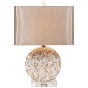 IMAX Worldwide Home Lighting Whitney Mother of Pearl Lamp