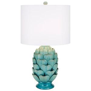 IMAX Worldwide Home Lighting Unocha Dimensional Ceramic Table Lamp