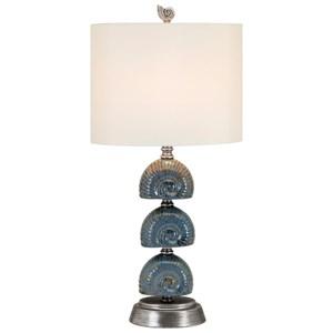 IMAX Worldwide Home Lighting Seashell Ceramic Table Lamp