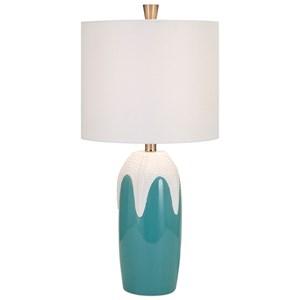 IMAX Worldwide Home Lighting Starfish Ceramic Table Lamp