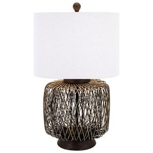 IMAX Worldwide Home Lighting Bamboo Woven Table Lamp