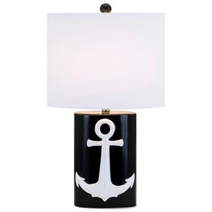 IMAX Worldwide Home Lighting Anchor Away Ceramic Table Lamp