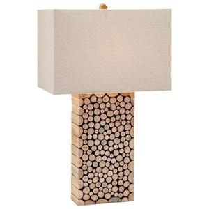 IMAX Worldwide Home Lighting Cynder Wood Table Lamp