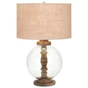 IMAX Worldwide Home Lighting Mahin Wood and Glass Lamp
