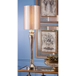 IMAX Worldwide Home Lighting Rennes Tall Mercury Glass Table Lamp