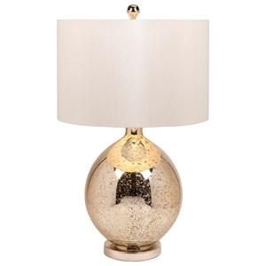 IMAX Worldwide Home Lighting Avignon Mercury Glass Table Lamp