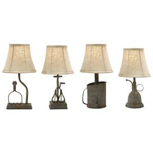 IMAX Worldwide Home Lighting Mayberry Utensil Mini Lamps - Set of 4