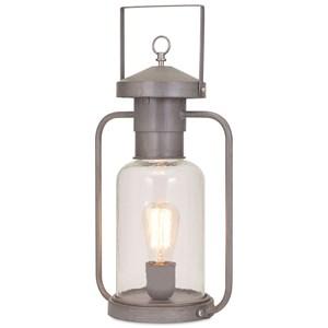 IMAX Worldwide Home Lighting Newport Glass Lantern Table Lamp