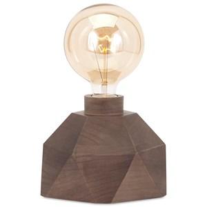 IMAX Worldwide Home Lighting Velocity Wood Table Lamp with Edison Bulb