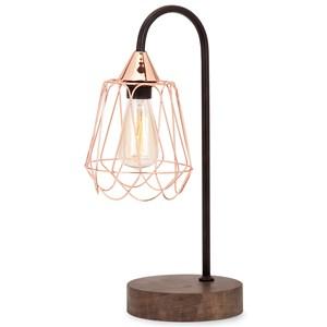 IMAX Worldwide Home Lighting Tilton Copper and Wood Table Lamp