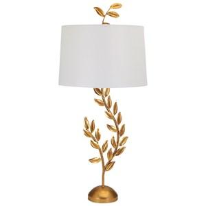 IMAX Worldwide Home Lighting Jenkins Gold Leaf Table Lamp