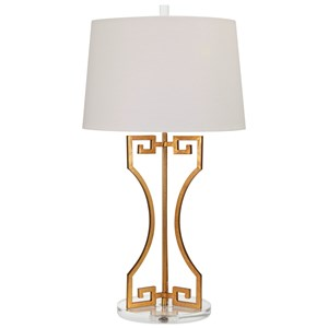IMAX Worldwide Home Lighting Wagner Greek Key Table Lamp