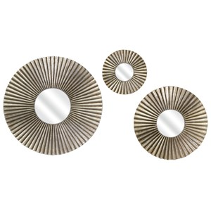 IMAX Worldwide Home Mirrors Piper Round Mirrors - Set of 3