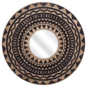 IMAX Worldwide Home Mirrors Aztec Embroidered Wall Mirror