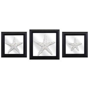 IMAX Worldwide Home Mirrors Jetty Starfish and Mirror Wall Decors - Set