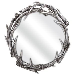 IMAX Worldwide Home Mirrors Aspen Antler Wall Mirror
