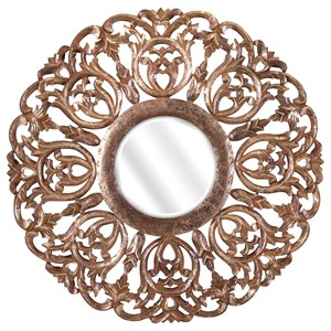 IMAX Worldwide Home Mirrors Warman Carved Wood Mirror