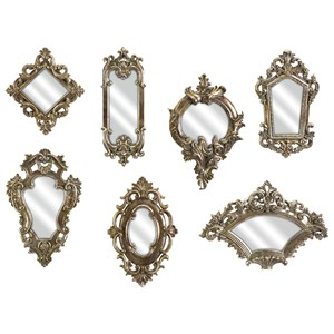 IMAX Worldwide Home Mirrors Loletta Victorian Inspired Mirrors - Set of