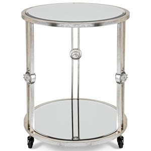 IMAX Worldwide Home Mirrors Crestly Mirror Table on Wheels