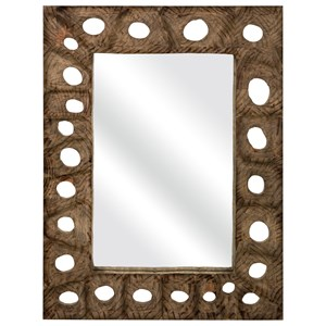 IMAX Worldwide Home Mirrors Aiden Carved Wood Mirror