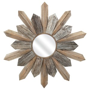 IMAX Worldwide Home Mirrors Tumelo Wood Mirror