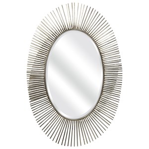 IMAX Worldwide Home Mirrors Navio Silver Leaf Abstract Wall Mirror