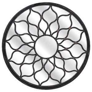 IMAX Worldwide Home Mirrors Maske Iron Round Mirror