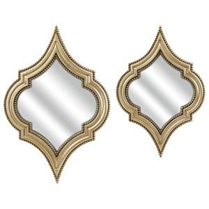 IMAX Worldwide Home Mirrors Marietta Wall Mirrors - Set of 2