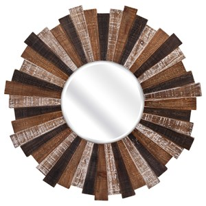 IMAX Worldwide Home Mirrors Wood Starburst Mirror