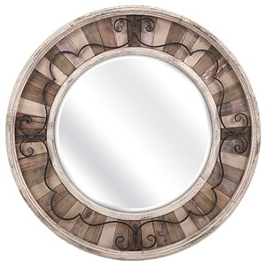 IMAX Worldwide Home Mirrors Sylvia Metal and Wood Mirror