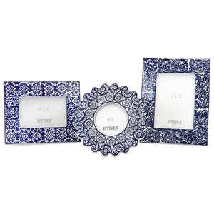 IMAX Worldwide Home Picture Frames Lucenda Blue and White Ceramic Frames - Set