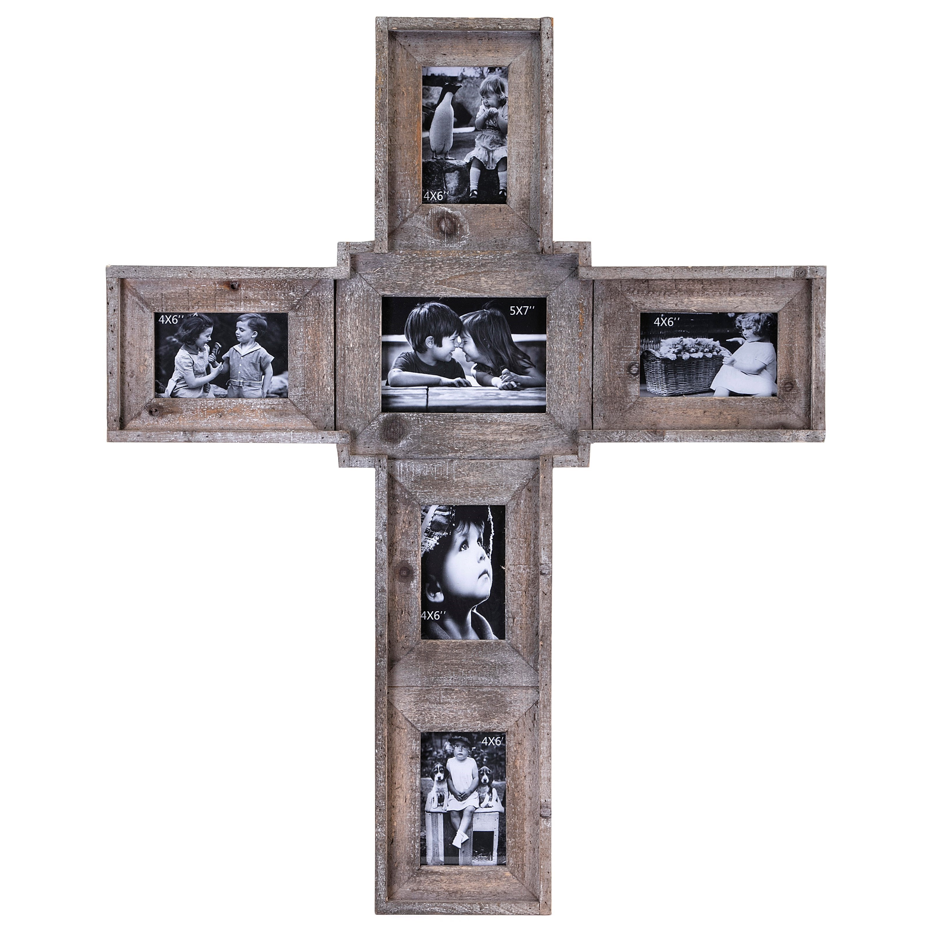 IMAX Worldwide Home Picture Frames Cross Family Wall Frame - Item Number: 14536