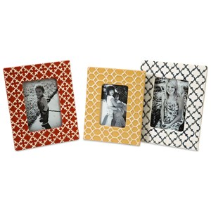 IMAX Worldwide Home Picture Frames Peters Graphic Photo Frames - Set of 3