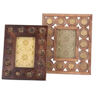 Frona Wood Photo Frames - Set of 2