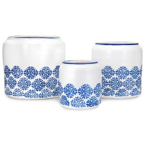 IMAX Worldwide Home Pots and Planters Edith Planters - Set of 3