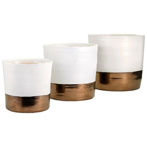 IMAX Worldwide Home Pots and Planters Harlow Ceramic Planters - Set of 3